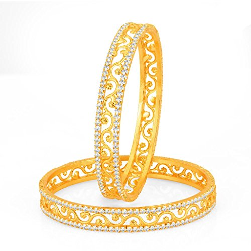 Sukkhi Incredible Gold Plated Set OF 2 Australian Diamond Bangle for Women
