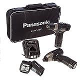 Panasonic Eyc110La2L 108V Cordless Drill DriverImpact DriverTorch 2 X 15 Ah