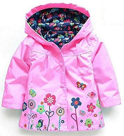 1-6 ans Enfants Manteaux Bébé Filles Garçons Imperméable Imperméable Vêtements pour les Enfants (100: adapté à la hauteur 95-100 cm, Rose)