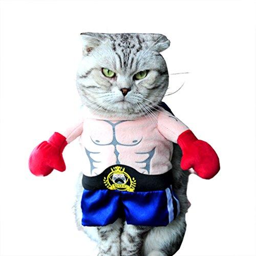 Niedliche Boxer Kostüm Hunde - smalllee_lucky_store xy000314-xs Hund Boxer Kostüm Fashion Fell Cape entworfen, blau, XS
