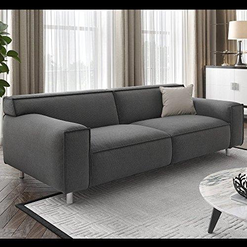 Couchgarnitur Sofagarnitur Textil Stoff Sofa Couch XXL Polstergarnitur 2-Sitzer
