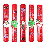 #3: TwinTraders TOYMYTOY 5PC LED Lights Christmas Snap Bracelets Xmas Circle Wristband bracelets For Kids Boys Girls
