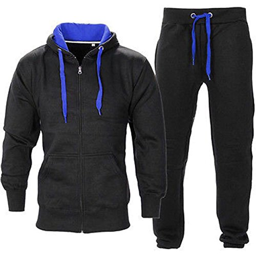 Juicy-Trendz-Uomo-Athletic-lunghi-Selves-pile-Zip-intera-palestra-tuta-da-jogging-Set-usura-attivo