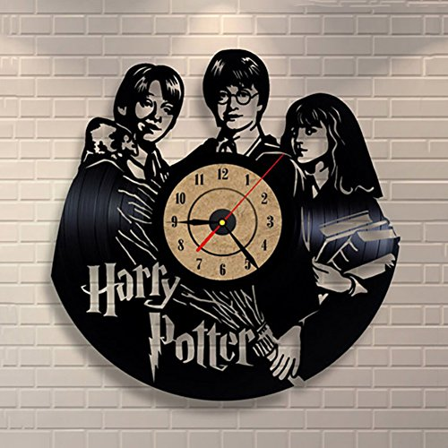 LOTOS Reloj De Pared De Vinilo De Harry Potter Reloj De Pared De 12 Pu