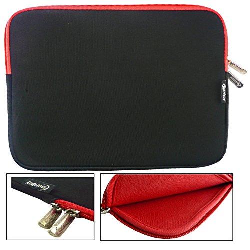 Emartbuy® Schwarz / Rot Wasserdicht Neopren weicher Reißverschluss Kasten Hülsen Abdeckungs Mit Rot Interieurundzip geeignet für MSI GE62-6QD161 15.6 Zoll Notebook ( 15-16 Zoll Laptop / Notebook / Ultrabook )