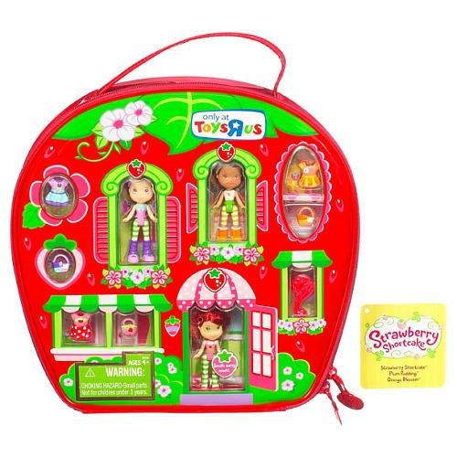 Emily Erdbeer, Plum Pudding & Orange Blossom Mini Figuren zum Ankleiden mit Tasche als Haus