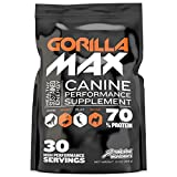 GORILLA MAX Protein Muscle Supplement for Dogs Size:30 Servings 395 g
