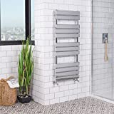 New Minimalist Bathroom Heated Towel Rail Radiator 1200 x 500 - Chrome