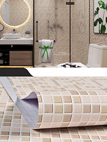 Hode Mosaico Adesivi Decorativi per Piastrelle Cucina Vinile Impermeabile  PVC Autoadesivo Decorazione,Mosaico,40X300cm,Carta da Parati per Bagno ...