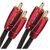 audioquest Golden Gate 2 x Cinch Stecker auf 2 x Cinch Stecker 1m