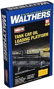 Walthers Cornerstone Escala HO -- Kit de Construcción Plataforma de Carga de Aceite