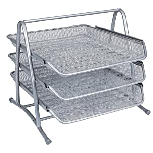 Q-Connect 3-Tier Letter Tray - Silver