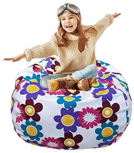 Kleinen Raum-storage-lösungen (Kid's Stuffed Animal Storage Sitzsack mit extra langen Reißverschluss, Tragegriff, klein bei 30