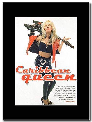Ford-Lita Cariddean Queen Magazine Promo su un supporto, colore: nero