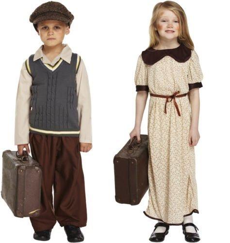W1 WW2 Wartime Evacuee Refugee Fancy Dress Costume Outfit 4-12 years (7-9 years, Boys) by Fancy Me (Evacuee Boy Fancy Dress Kostüm)