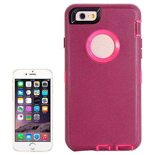 Wkae Case Cover Bunte Plastik + TPU Kombination Hülle für das iPhone 6 ( : Black ) Dark Red
