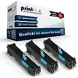 3x Kompatible Tonerkartuschen für Epson Aculaser M1200 C13S05052 0521 Schwarz Black (Doppelpack) - Office Print Serie