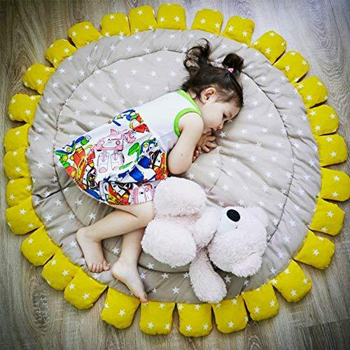 Alfombra infantil de algodón con diseño de girasol, diseño de estrellas, decoración...