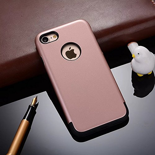 YHUISEN 2 In 1 PC + TPU Armor Hybrid Dual Layer Schutz Schock Absorption Hard Back Cover Case für IPhone 6 Plus / IPhone 6S Plus ( Color : Navy Blue ) Rose Gold