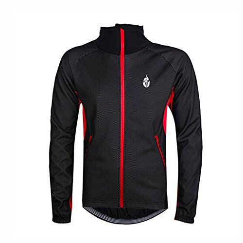 WOLFBIKE Pro Fahrrad Windjacke Softshell Jacke Radjacke XL rot und schwarz