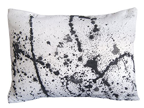 Splash Kissen, Lendenkissen, 30 x 40 cm, Schwarze und weiße Wurfkissen, BeccaTextile. -