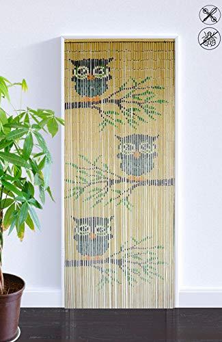 ABC Home Living Türvorhang | Insektenschutz | Fliegenschutz | Raumteiler, Bambus, Mehrfarbig, 200 x 90 cm