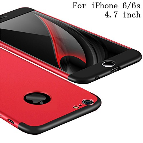 iPhone 6s 4.7'' Case iPhone 6 Cover 360 Degree Protection 3 in 1 Slim Cover Adamark Shockproof Shell Full Body Coverage Protection Protective Case For iPhone 6/6S (without Tempered Glass Film Protector)