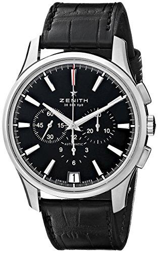 Zenith da uomo 032110400.22C el Primero analogico display svizzero orologio automatico nero