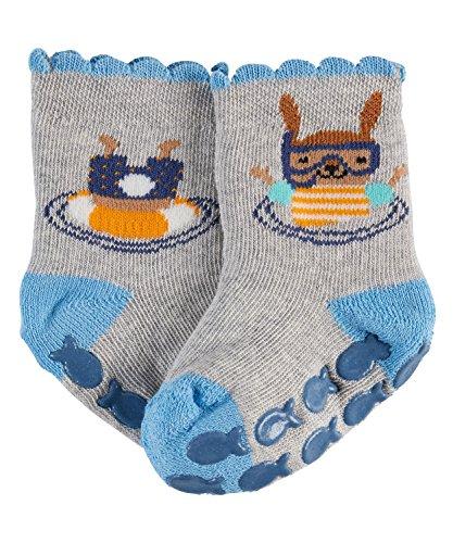 FALKE Unisex Baby Socken Diving Bunny, Storm Grey, 62-68