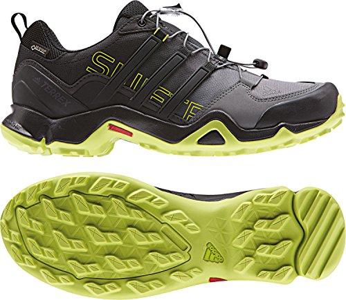 adidas - Terrex Swift R Gtx, Scarpe sportive outdoor Uomo Nero (Core Black/core Black/semi Solar Yellow)