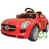 Lizenz Kindauto Mercedes Benz SLS Elektroauto Kinderfahrzeug Ferngesteuert Auto (Rot)