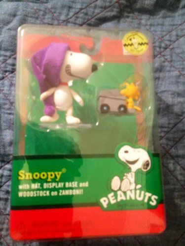 snoopy-with-hat-display-base-and-woodstock-on-zamboni-by-doallser-company
