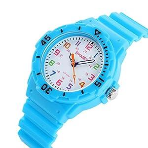 BesWLZ Kinder und Jugendliche Uhr Analog Quarz Wasserdicht mit Plastik Armband