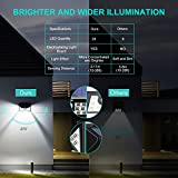 Mpow, luce ad energia solare, super luminoso, luci di sicurezza, per esterno, luci da parete, tipo PIR, sensore, per giardino, patio, entrata e piscina