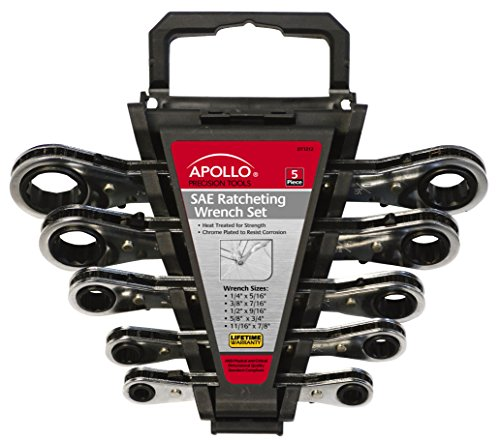 Apollo Precision Tools dt1212SAE Ratschenschlüssel Set, 5-teilig