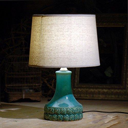 GGM Keramik Brennofen Glasur Stieg Neun Keramik Kunst Lampe Dekorative Nachttischlampen,EIN,30,5 * 30,5 * 45,5 cm