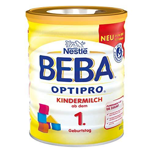 Nestlé BEBA Optipro Kindermilch 1, ab dem 1 Geburtstag, Kinder Milch, Säuglingsmilch, Milchnahrung, Pulver, Dose, 800 g, 12372847