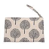 Laat algodón Monedero bolso de mano portátil cartera pequeño bolsillo con cierre de cremallera 6colores Color 6 11 * 20