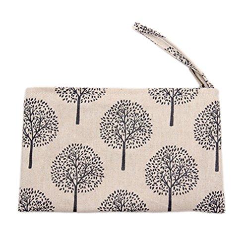 Laat portamonete portatile in piccola tasca borsa in cotone con chiusura lampo 8colori Colore 2 Color 2 11 * 20 Color 6