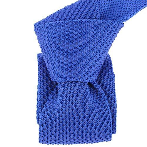Clj Charles Le Jeune - Cravate Tricot. Bleu Royal