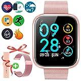 Brazalete Táctil Inteligente de Color de Alta definición con Monitor de frecuencia cardíaca IP67 Impermeable y Resistente al Polvo Reloj Deportivo de Moda para iOS Android Smartphones