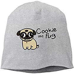 Nizefuture Cookie The Pug Winter Beanie Skull Cap Warm Knit Ski Slouchy Hat Durable