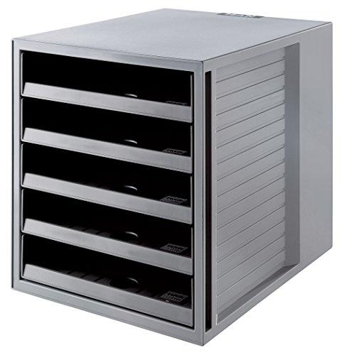 RMA 14018-18 in Öko-Grau - Ordnungsbox DIN A4 - Aufbewahrungsbox mit Schubladen aus nachhaltigem Kunststoff ()