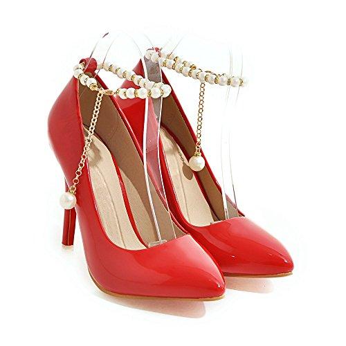 MEI&S Donna PUNTALE APPUNTITO Stiletto bocca poco profonda Prom Tacchi Alti Wedding Corte pompe scarpe Red