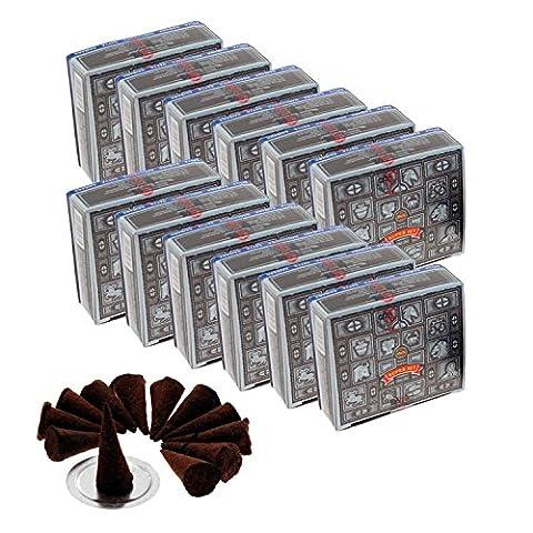 12 x Quality Super Hit Satya Sai Baba Incense Dhoop Nag Champa Cones & Free Burner - Free Postage - Most Popular