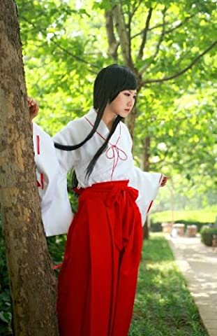 Set of 6 S size costume Cosplay Costume Inuyasha Kikyo Miko Spoken clothes (japan import)