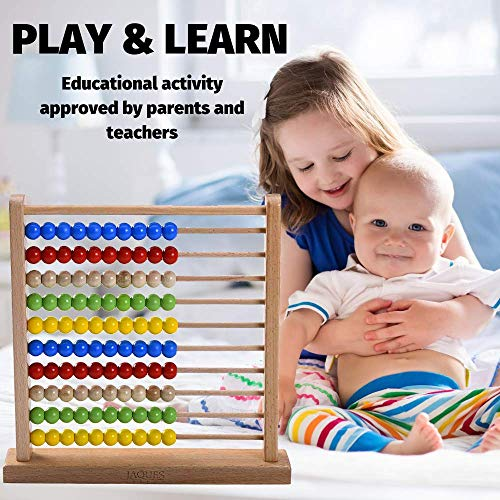 LARGE Abacus - Great Educational Toys and Perfect Toddler Toys. Over 220 years of Wooden Toys from Jaques London- Suitable Toys for 2 3 4 5 year olds boys and girls.