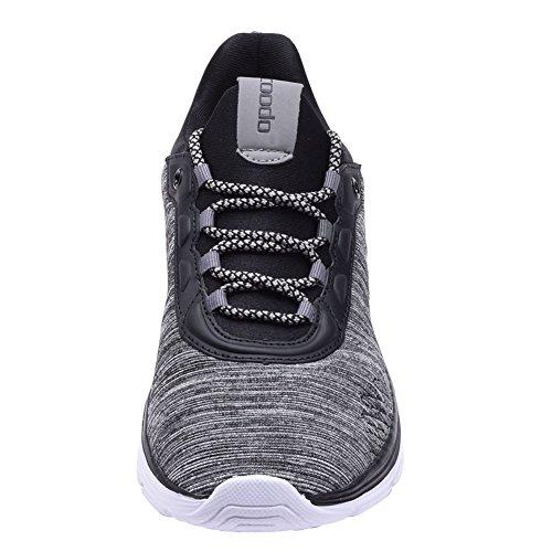 Cinza Corrida Sapatos Homens Dos 5 Coodo 5 11 Preto Branco De uk 6BqUw