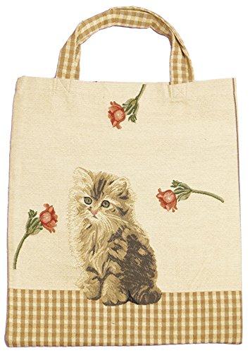 Bowatex Sac cabas sac pochette en tissu Shopper Bag poche de bistro Tapisserie royaltex Signare un chat FA