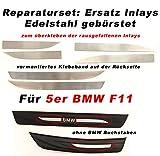 Einstiegsleisten Inlays für für 5er F10 & F11 aus Edelstahl Stil: Blank Edel